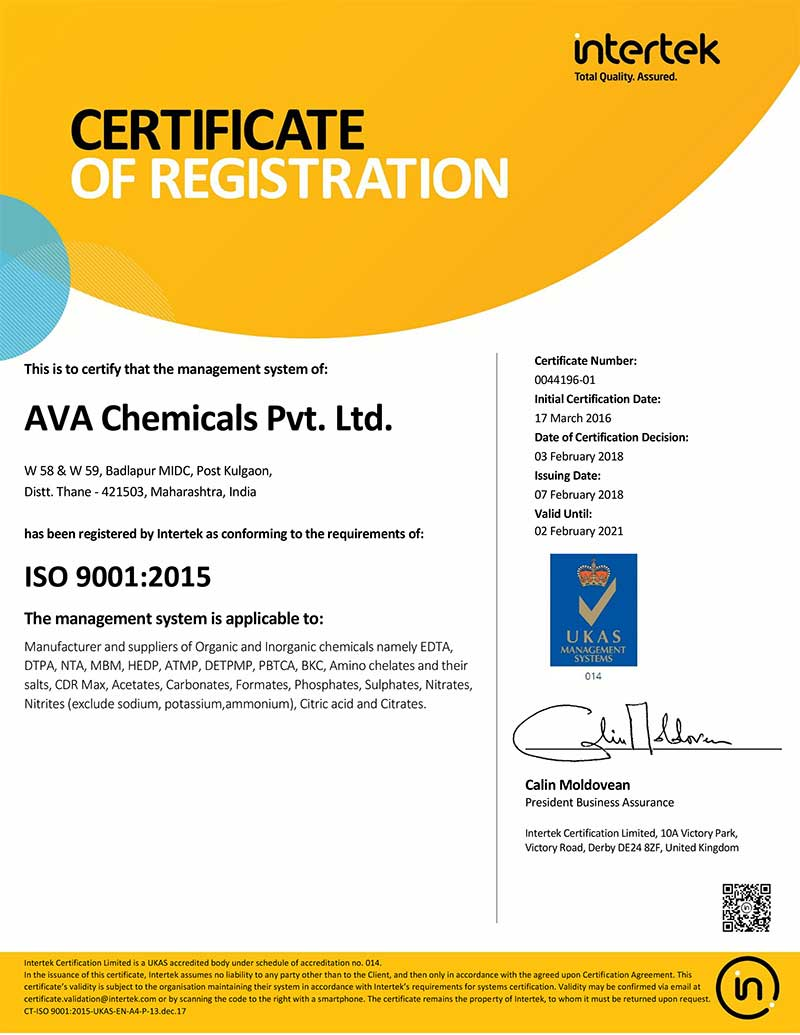 About Us - Ava Chemicals Private Limited, Thane, Maharashtra